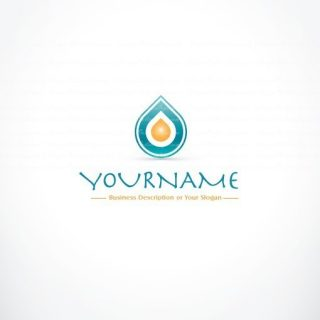 Exclusive Design Water drop online Logo