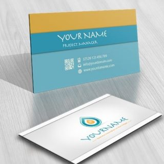 Exclusive Design Water drop online Logo FREE Business Card