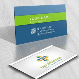 Exclusive Design: 3D Initial flower Logo + FREE Business Card