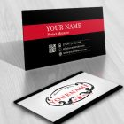 crest Rose online Logo FREE Business Card