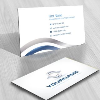 Design Abstract waves online Logo FREE Business Card