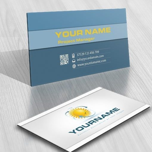 Solar Energy online logo FREE Business Card