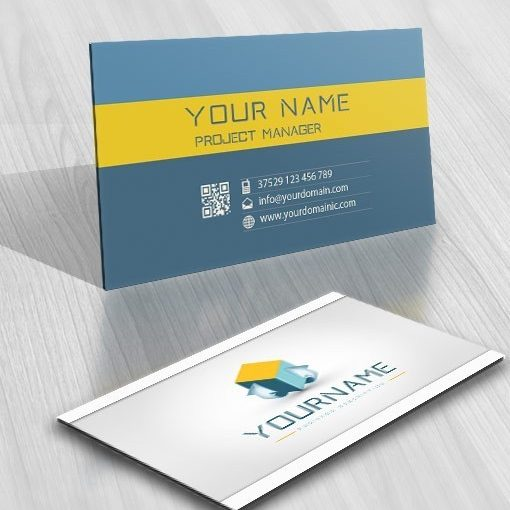 Exclusive Design: 3D cube Online Logo + FREE Business Card