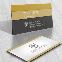 Exclusive Design Clover jewelry Logo FREE Business Card