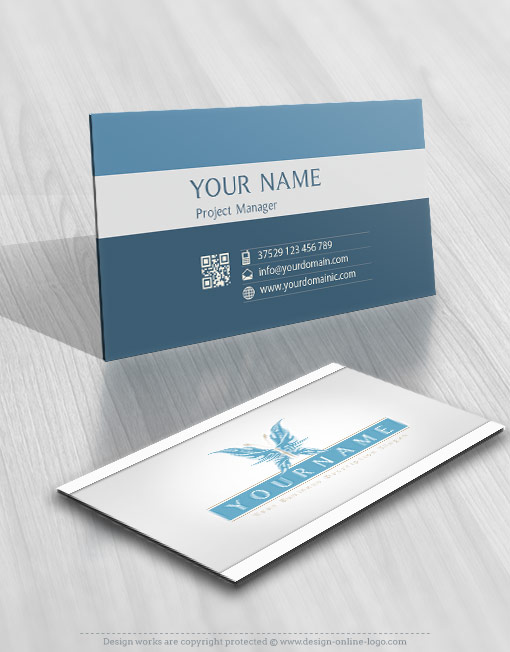 Online Butterfly Logo + FREE Business Card