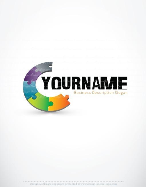 3d Online Puzzle Logo Free Business Card