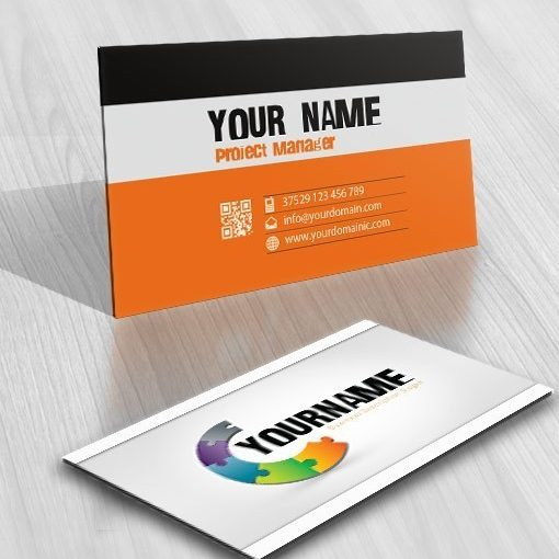 3D online Puzzle Logo + FREE Business Card