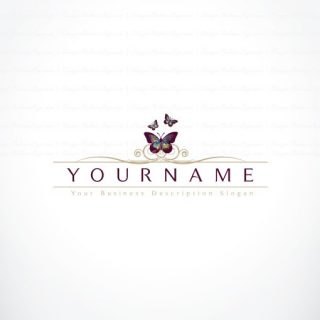 Pre made online Butterfly logo design with a symbol of a Flying Butterflies