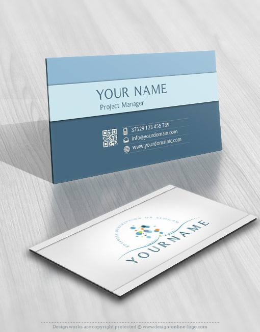 Water bubbles online Logo + FREE Business Card