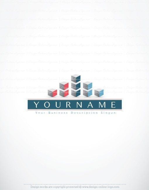 3D Abstract Real Estate Logo