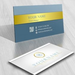 online water Spiral Logo + FREE Business Card