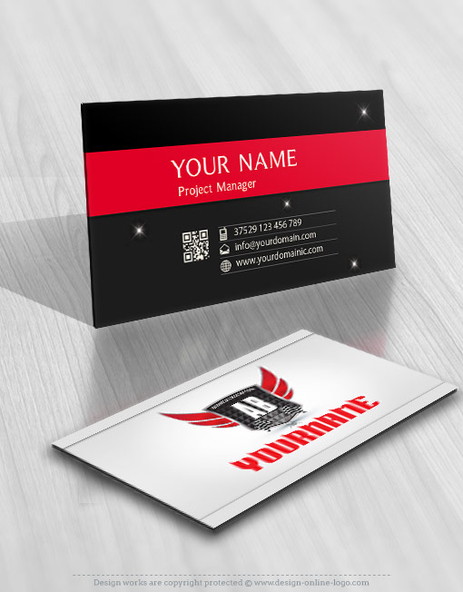 Exclusive design racing sport logo online free business card prev reheart Image collections