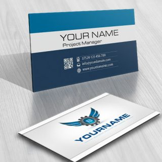 ready made Industrial logo free card design