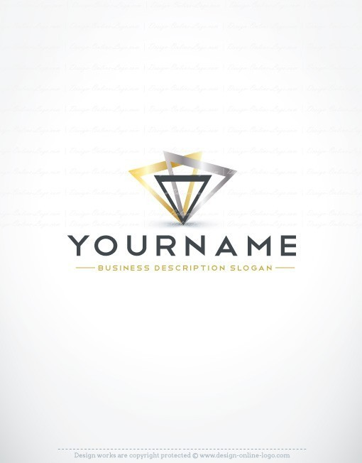 Abstract Triangles Logo template