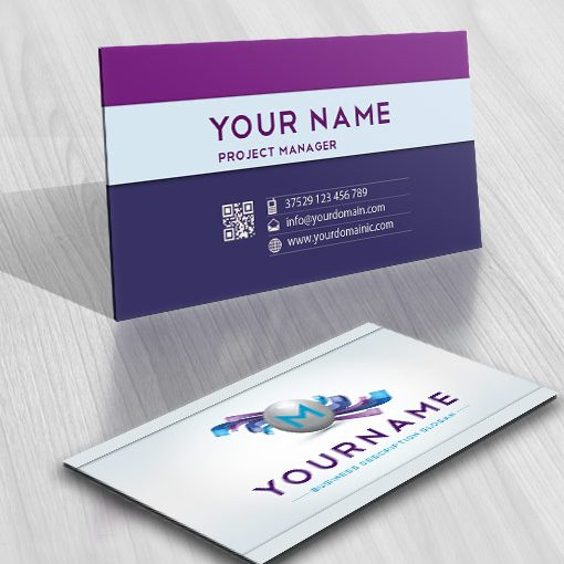 3D Online Alphabet Logo + FREE Business Card