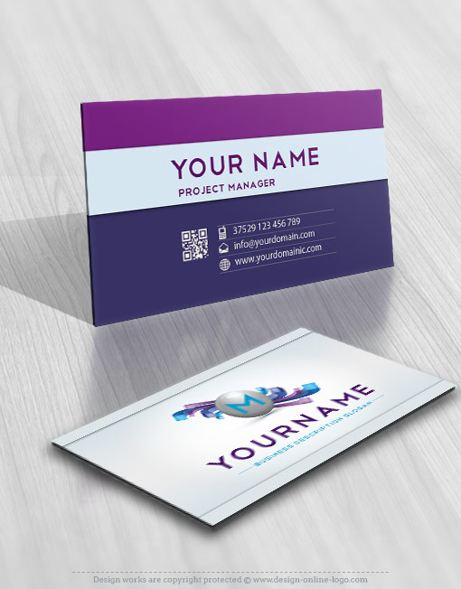 3d online alphabet logo free business card