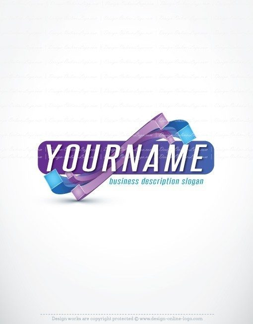 3D Online Abstract Logo