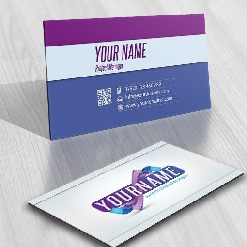 3D Online Abstract Logo + FREE Business Card
