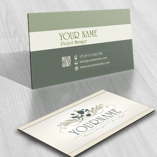 Buy online Organic vegetarian cuisine Logo free business card design