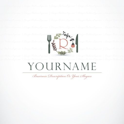 Natural Gourmet Cuisine Logo Free Business Card