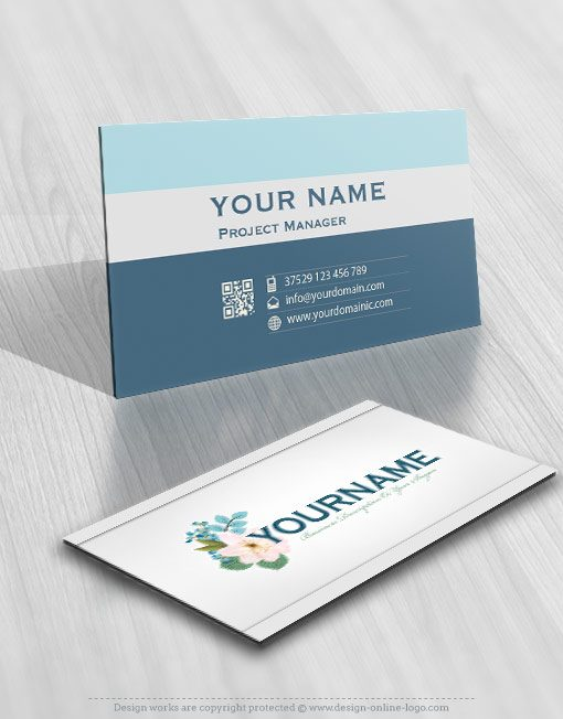 Buy flowers bouquet logo + FREE Business Card