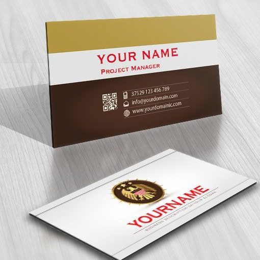 Security Eagle Online Logo free card design