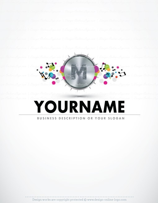 alphabet dj music logo free business card