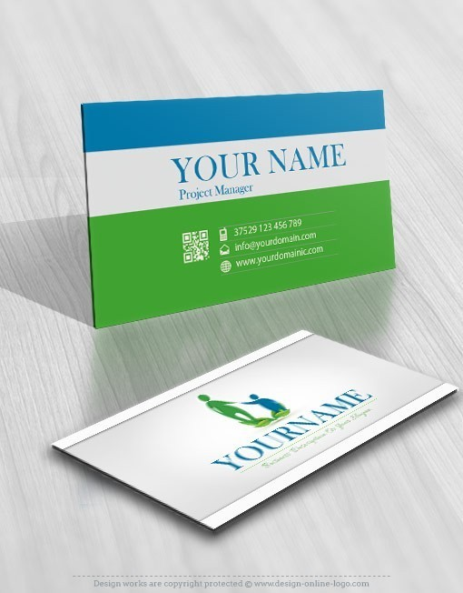 Mother Child online Logo family logos free card design