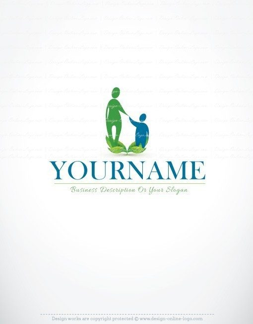 Mother Child online Logo family logos