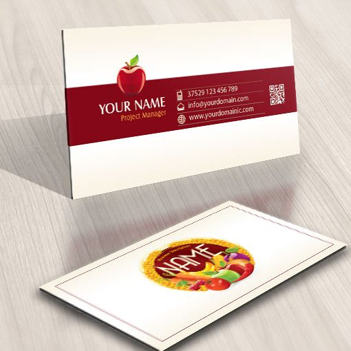 Exclusive Design: Organic fruits vegetables Logo + FREE Business Card