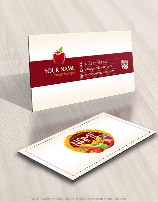 Design organic fruits vegetables logo free business card exclusive design organic fruits vegetables logo free business card reheart Choice Image