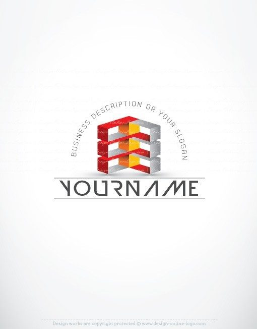 Exclusive Design: 3D online Cubes Logo + FREE Business Card