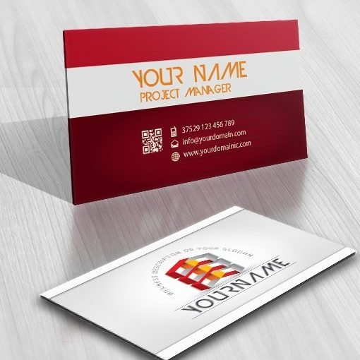 3D online Cubes Logo + FREE Business Card