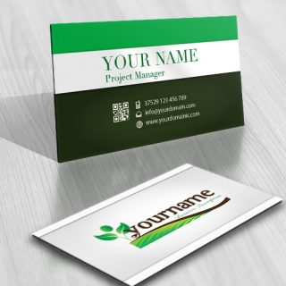 Exclusive Design: Human tree Online Logo + FREE Business Card