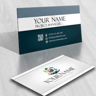 Human Group online logo + FREE Business Card