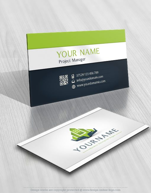 Exclusive Design: Real Estate Hands Logo design + FREE Business Card.