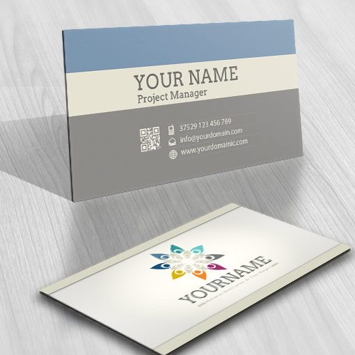 3016-Group-human-logo-business-card-design