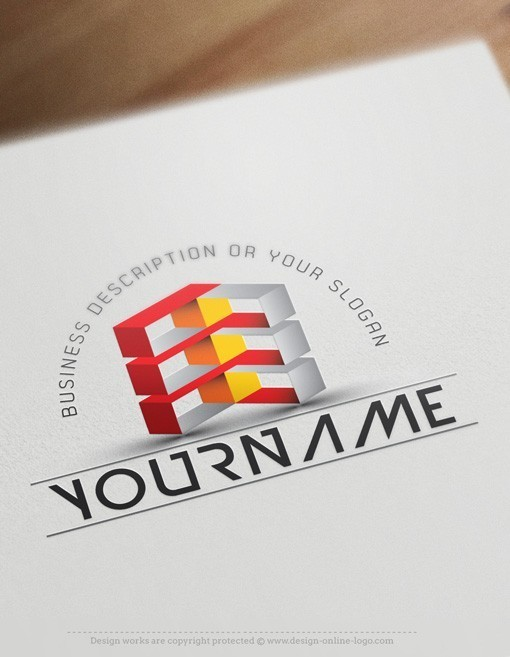3d online cubes logo free business card for Create logo online free 3d