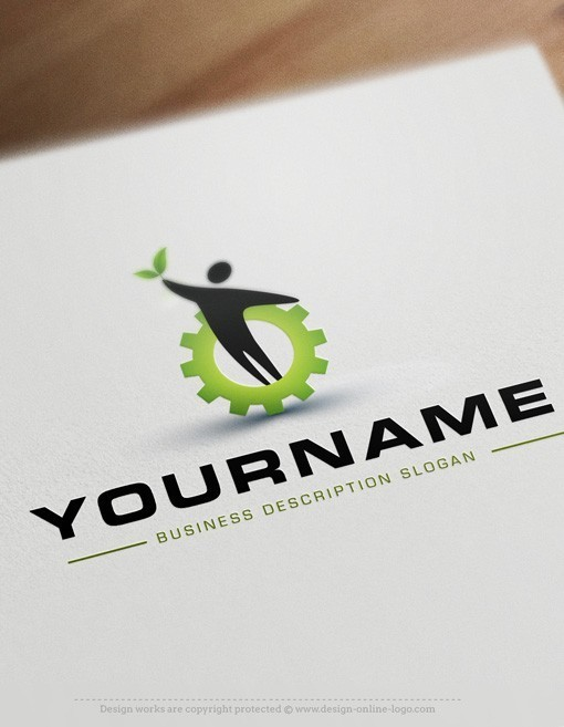 buy eco friendly industrial logo   free business card