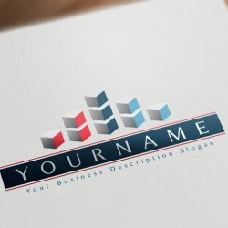 Design 3D Abstract Real Estate Logo FREE Business Card