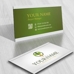 Growth fountain pen logo online + FREE Business Card