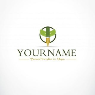 Growth fountain pen logo design online