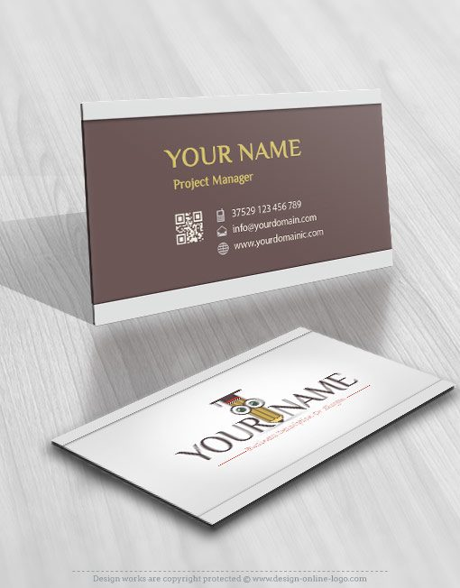 Pencil education online logo + FREE Business Card