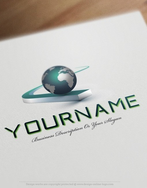 Exclusive design buy globe path logo free business card for Create logo online free 3d