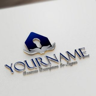 Hands key Real Estate online Logo design template