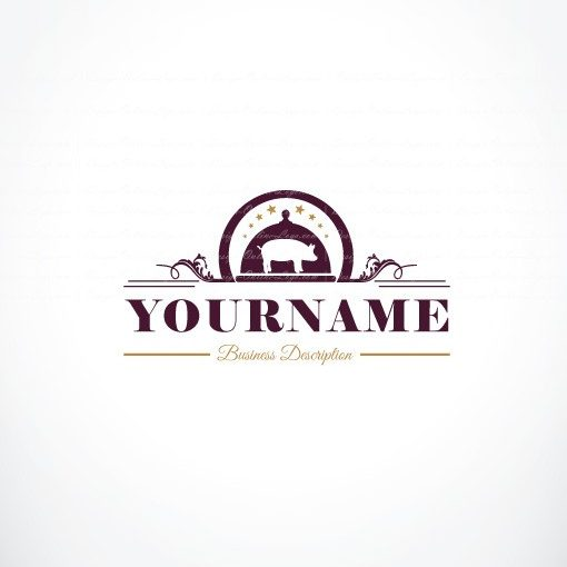 3024-Pork-Restaurant-logo-design-template