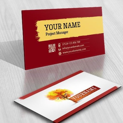 3035-online-paint-tree-logo-business-card-design