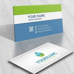 3046-water-leaf-eco-logo-business-card-design