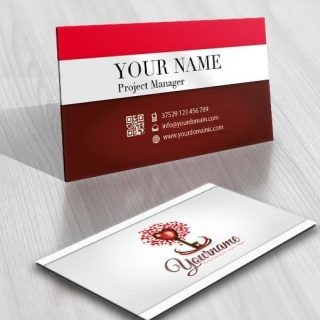 3055-love-tree-key-online-logo-business-card-design