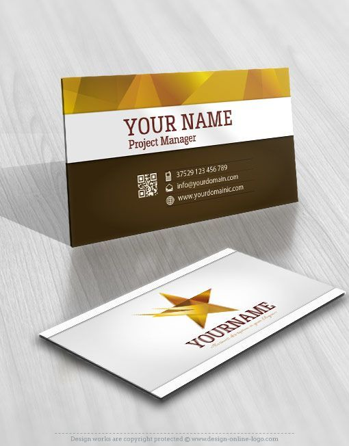3d star logo free business card